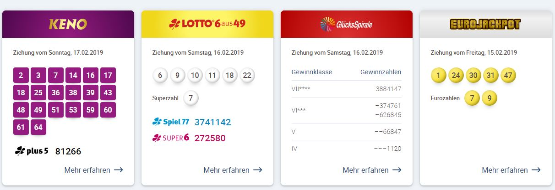 Lotto Eurozahlen